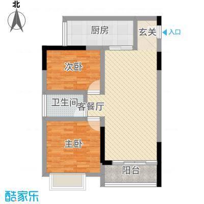 鸿翠阁77.15㎡1栋0户型2室2厅1卫1厨