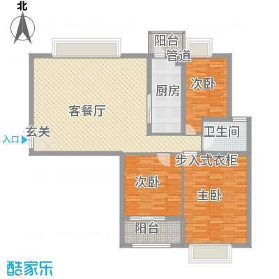 风景翰苑115.23㎡2#6#小高层标准层F3户型3室2厅1卫