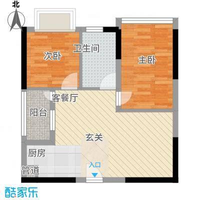 鸿翠阁5.00㎡户型2室