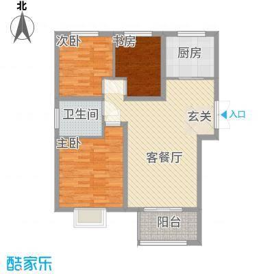 金色家园一期5#楼边户C户型