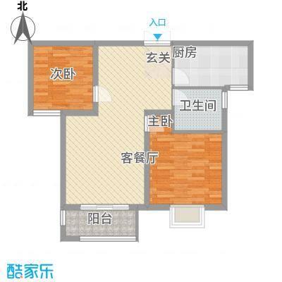 金色家园一期5#楼中间户D户型