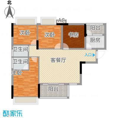 黄金花园黄金苑114.00㎡户型4室2厅2卫1厨