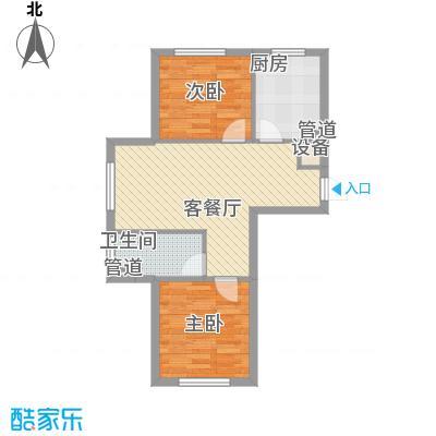 新城丽景68.14㎡3号楼C户型2室1厅1卫1厨