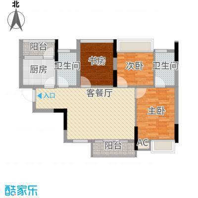 黄金花园黄金苑户型3室2厅2卫1厨