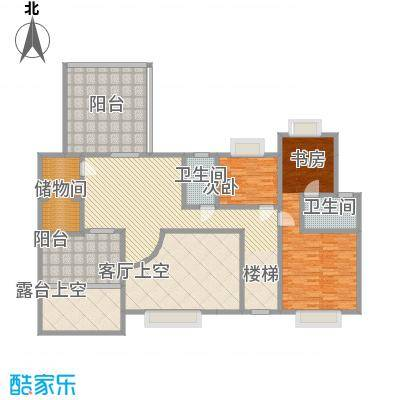 岭南世家3.63㎡四、六栋14、15层复式二层户型2室1厅2卫