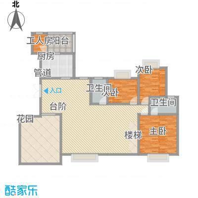 岭南世家3.63㎡四、六栋14、15层复式首层户型4室2厅1卫1厨