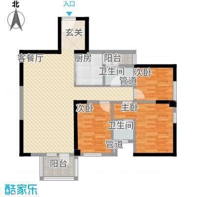 新景缘新景园3户型3室2厅2卫1厨