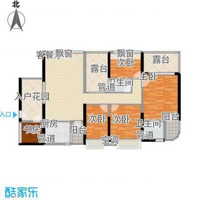 龙园8号3号楼偶数层04户型4室2厅2卫