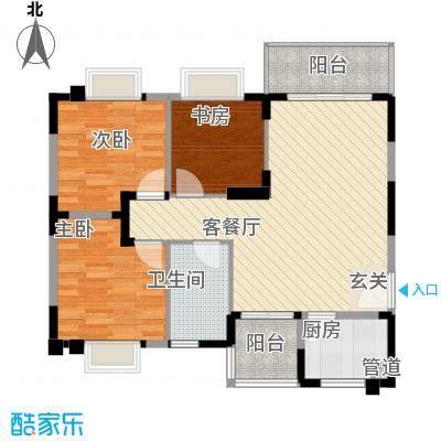 翔鹭香悦四季A户型3室2厅1卫1厨