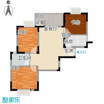 翔鹭香悦四季C户型3室2厅1卫1厨