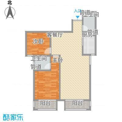 天水丽城二期8.44㎡标准层B-01户型2室2厅2卫1厨