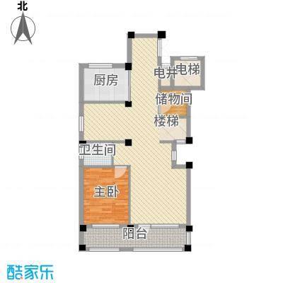 御景苑214.00㎡复式精装高层B1楼下户型1室2厅1卫1厨