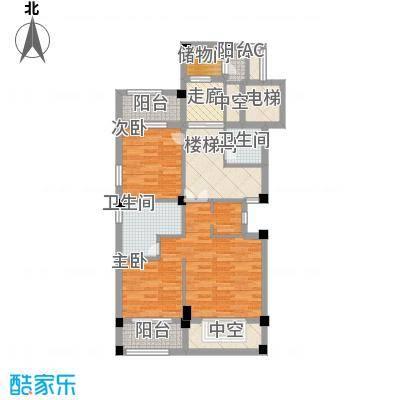 御景苑214.00㎡复式精装高层B1楼上户型3室2卫