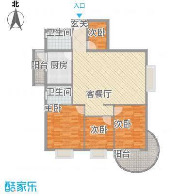 罗宾森广场134.60㎡A-C座标准层04户型4室2厅2卫1厨