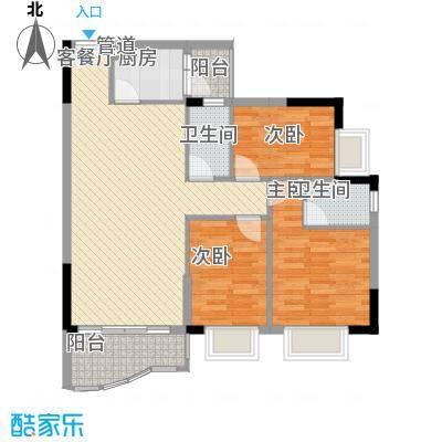 绿杨居2.52㎡5-6栋0户型3室2厅2卫