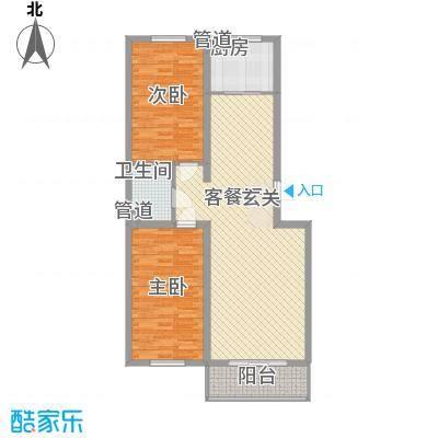 福园114.00㎡F2户型2室2厅1卫
