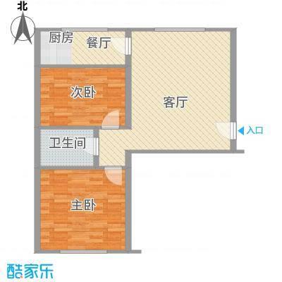 万盛佳园83.80㎡户型2室2厅1卫1厨
