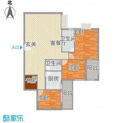 罗宾森广场145.75㎡A-C座标准层05户型4室2厅2卫1厨