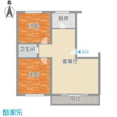 万盛佳园112.55㎡户型2室2厅1卫1厨