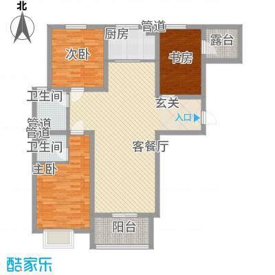 凌透花园二期4号楼D户型