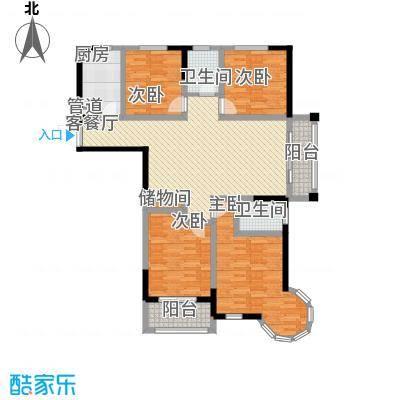 万福・君临天下14.00㎡F户型4室2厅2卫1厨
