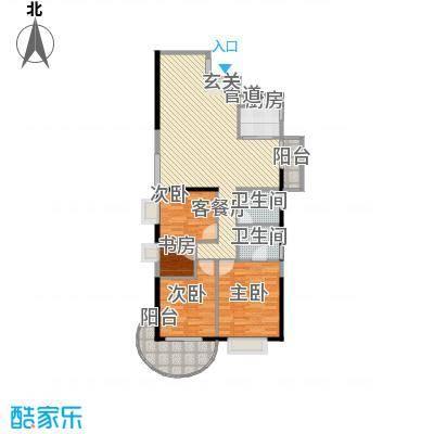 罗宾森广场132.00㎡三卧户型3室2厅2卫1厨
