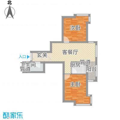 华风海城湾75.00㎡户型
