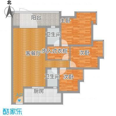 江畔如歌3居室建面132