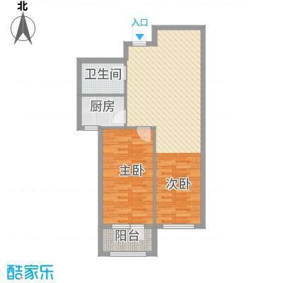 天鸿展视界75.70㎡25、26、28号楼D1户型1室2厅1卫1厨