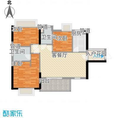 海悦云天3栋2单元0、1单元0户型3室2厅2卫1厨