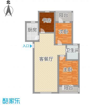 博荣水立方117.30㎡B2东2F户型3室2厅1卫