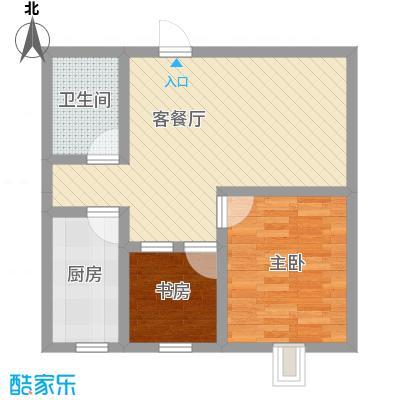 博荣水立方58.75㎡85#、86#-03户型1室1厅1卫1厨