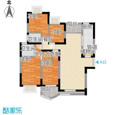 中信新天地114.00㎡户型4室