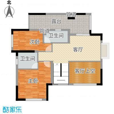 金鸿利嘉阁181.20㎡1、2栋1单元170/2单元170复式二层户型2室1厅2卫