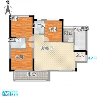 金鸿利嘉阁4.50㎡1栋2单元0/2栋1单元0户型3室2厅2卫1厨