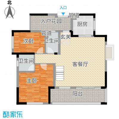 金鸿利嘉阁181.20㎡1、2栋1单元170/2单元170复式一层户型2室2厅2卫1厨