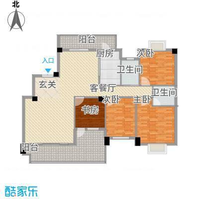 紫金家园16.55㎡6#楼1、2梯02户型4室2厅2卫1厨