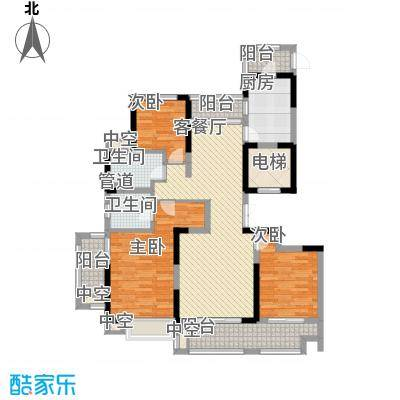 华侨城欢乐海岸138.00㎡C1户型3室2厅2卫1厨