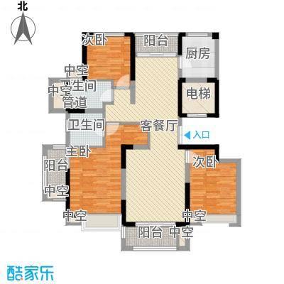 华侨城欢乐海岸138.00㎡C2户型3室2厅2卫1厨