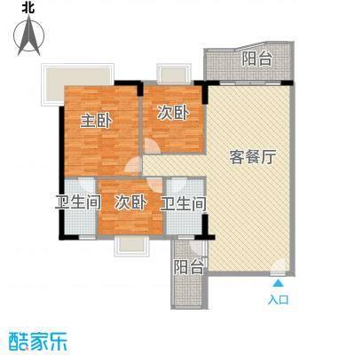 石竹新花园114.00㎡户型