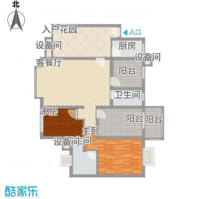 禹洲领海117.30㎡7号楼33层01、06单元户型1室1厅2卫1厨
