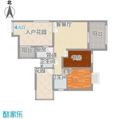 禹洲领海7号楼2-30层偶数层02、07单元户型3室2厅2卫1厨