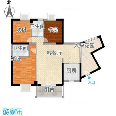 未来海岸系天心岛126.00㎡户型3室