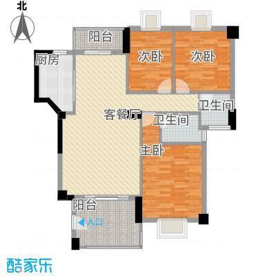 未来海岸系天心岛11.00㎡户型3室