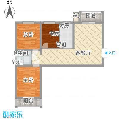 爱巢809011.00㎡10#D-1户型3室2厅1卫1厨