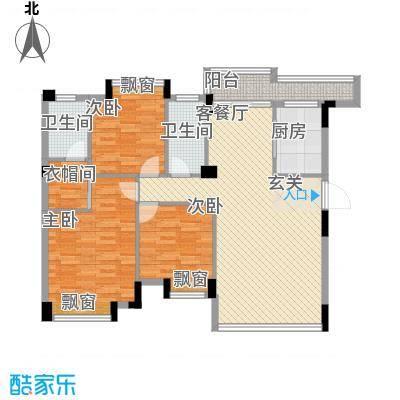 清华十二郡18.70㎡一栋、十一栋、十二栋0户型3室2厅2卫1厨