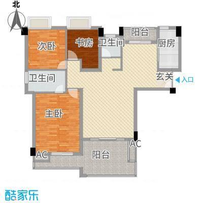 特房五缘尊府132.00㎡2号楼03单元3号楼01单元户型3室2厅2卫1厨