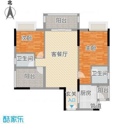 水岸珑庭14.10㎡12座06单元户型3室2厅2卫1厨