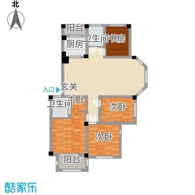 丰惠华丽家族136.60㎡一期标准层A8户型4室2厅2卫1厨