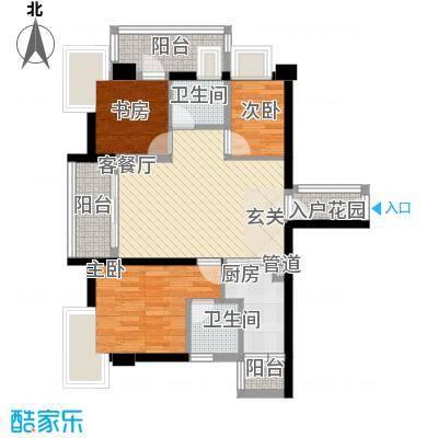 公园道8户型3室2厅2卫